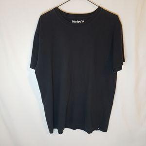 Hurley Mens premium black short sleeve tee